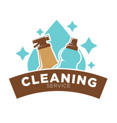 Home cleaning service icon of water drop vector