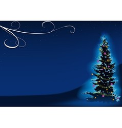 Blue christmas tree vector