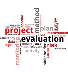 Word cloud project evaluation vector