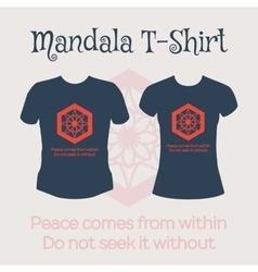 Mandala t-shirt vector