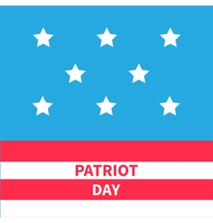 Stars srips background patriot day flat design vector
