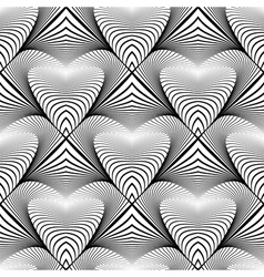 Design seamless monochrome striped pattern vector