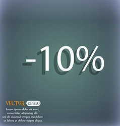 10 percent discount sign icon sale symbol special vector