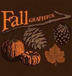 Fall graphics vector