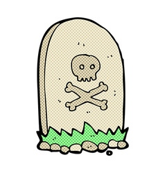 Comic cartoon grave vector