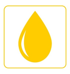 Oil drop flat icon 1 vector