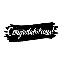 Congratulations original handwritten calligraphy vector