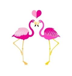 Graphics flamingo lovers vector