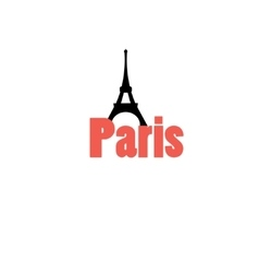 icon with the word Paris vector image