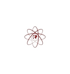 Flat paper cut style icon of science symbol vector