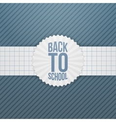 Back to school greeting emblem on paper ribbon vector