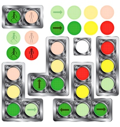 a set of traffic lights vector image