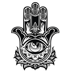 Amulet hamsa hand of fatima vector