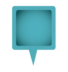 Blue chat bubble icon vector