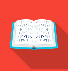 Book written in braille icon in flat style vector