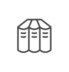 books set line icon vector image vector image