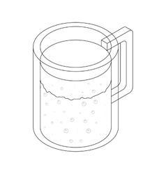 Carafe icon isometric 3d style vector