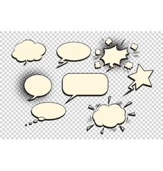 Comics bubble set vector image