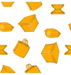 Container pattern cartoon style vector