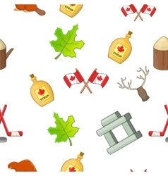 Country canada pattern cartoon style vector