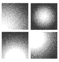 Creative of grainy sand textures halftone vector
