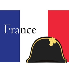 Flag and bicorne hat vector image vector image