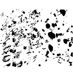 Hand-made grunge texture abstract ink drops vector