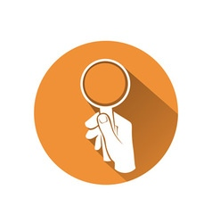 Hand with loupe vector image vector image