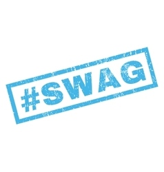 Hashtag swag rubber stamp vector