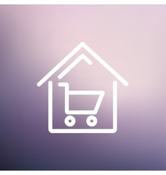House shopping thin line icon vector image