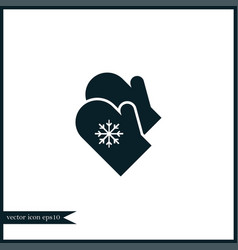 mittens icon simple vector image vector image