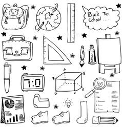 Object school supplies doodles vector