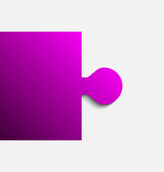 purple piece puzzle jigsaw 2 step vector image