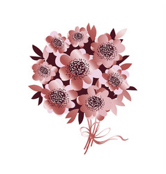rose gold color flower bunch vector image vector image
