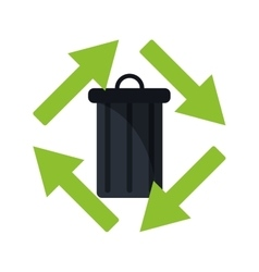 trash can garbage environment recycle vector image vector image