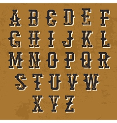 Vintage grunge alphabet decorative display font vector