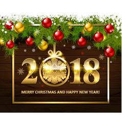 with christmas and new year vector image vector image