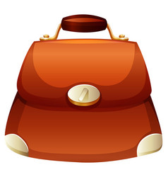 woman purse in brown color vector image vector image