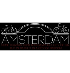 Amsterdam motorcycle typography t-sh vector image