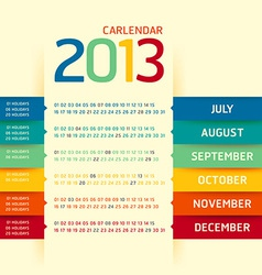 2013 calendar modern soft color vector