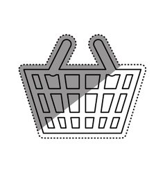 Isolated basket shopping vector