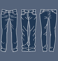 Drawing blue jeans mens jeans drawing blue jeans vector