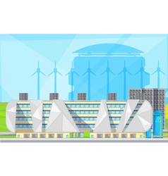 Eco Waste Plant Facilities Flat Poster vector image