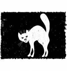 very malicious cat vector image