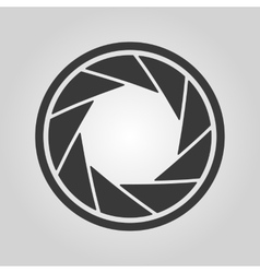 The diaphragm icon aperture symbol vector