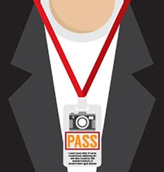 Photographer pass lanyard vector