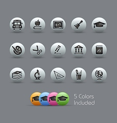 Education icons pearly series vector