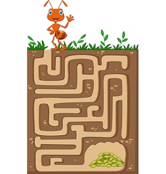 Help ant to find way to food grains vector image