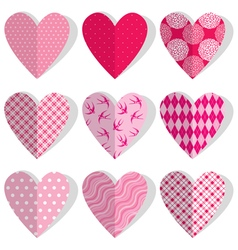 Set heart polka dots 380 vector