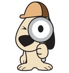 Search Dog vector image